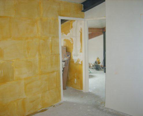 Plaatsen muren zolder