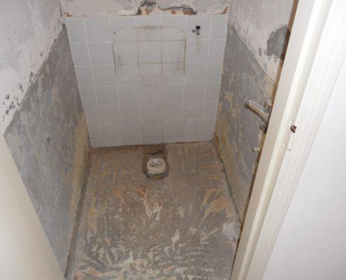 Toilet Renovatie voorbereiding
